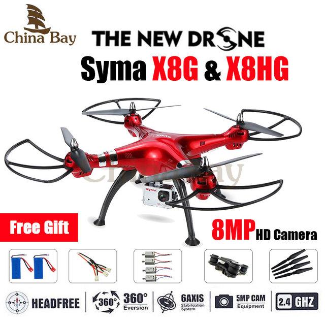 2016 Последним Drone Syma X8G и X8HG 2.4 Г 4ch 6 Оси с Высота Удержания 8MP Широкоугольный Hd Камера RC Quadcopter RTF RC Вертолет