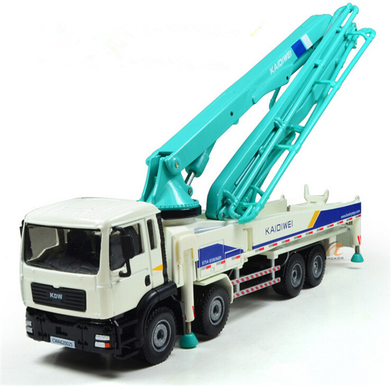High Quality 1:55 Concrete Pump Truck Cement Miniature Truck Cranes Alloy Car Models in Automotive Engineering Trucks for Kids(China (Mainland))