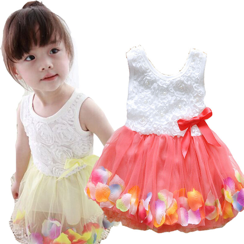 6 Different Colors Kids Clothes Baby Girls Dress Princess