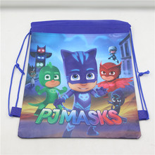 Buy Baby Shower Non-Woven Fabric Drawstring Bags Backpack PJ Masks Theme Birthday Party Decoration Supplies Kids Favors Mochila 10pc for $8.82 in AliExpress store