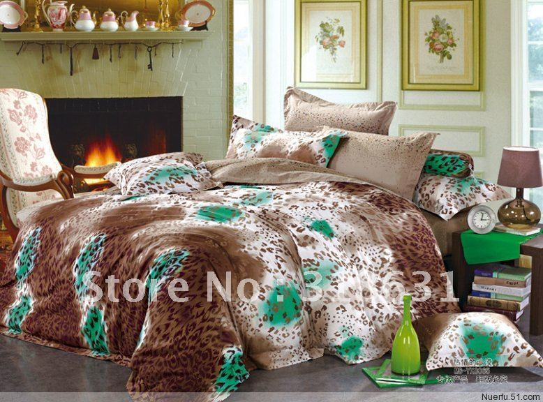 New Listing modern FASHION design queen size duvet cover bedding set 100% cotton comforter sets 5pcs with inside filler(China (Mainland))