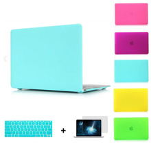 Hot deep colors frosted matte laptop case pro 13 air 11 13 retina  13+keyboard skin+screen protector for apple mac macbook