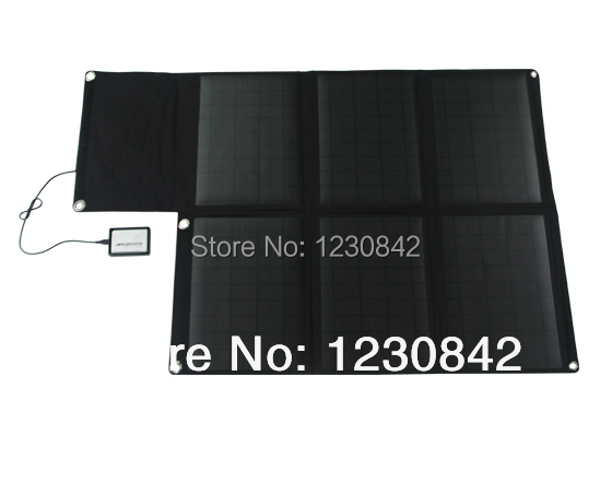 High Efficiency Solar Cell 60W Mono Foldable and Portable Solar Panel Charger folr Laptops,phones,power banks,batteries(China (Mainland))