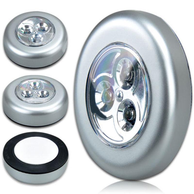 Mini Wall Light Car Kitchen Cabinet Light 3 LED Wireless Push Touch Lamp(China (Mainland))