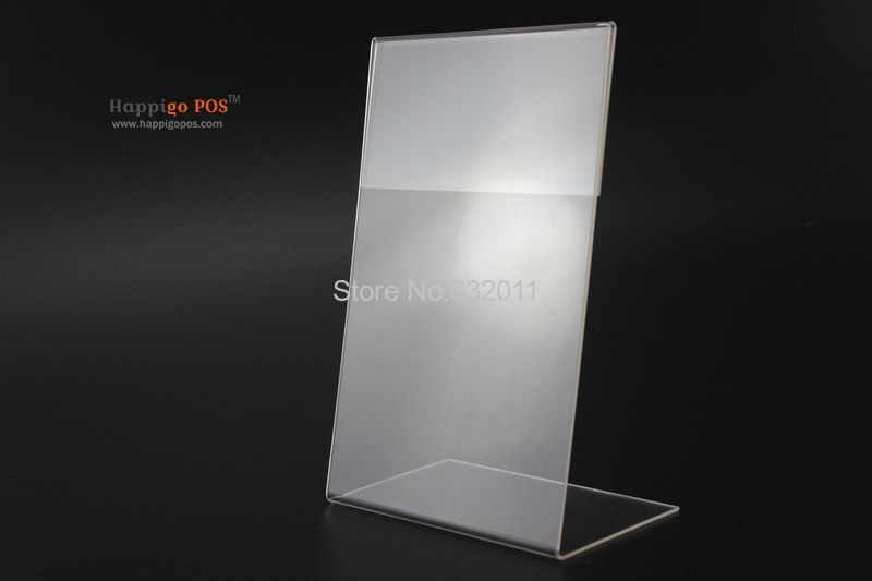 150*210MM 20 pcs A5 acrylic desktop table tablet stands sign banner name card showing stand price list label menu holder(China (Mainland))