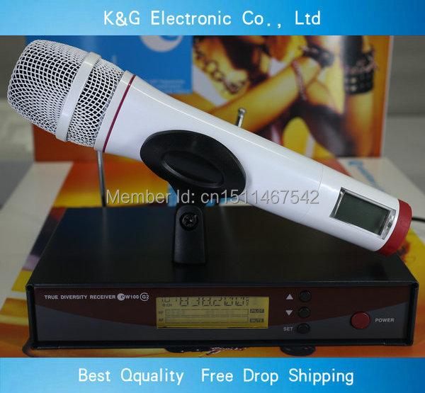 High Quality EW135 G2 UHF/PLL Wireless microphone  Professional single White handheld EW100 G2 wireless microphone system<br><br>Aliexpress