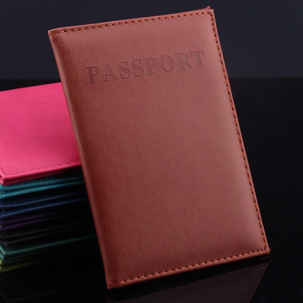 2015 Hot Women Men Fashion Faux Leather Travel Passport Holder Cover ID Card Bag Passport Wallet