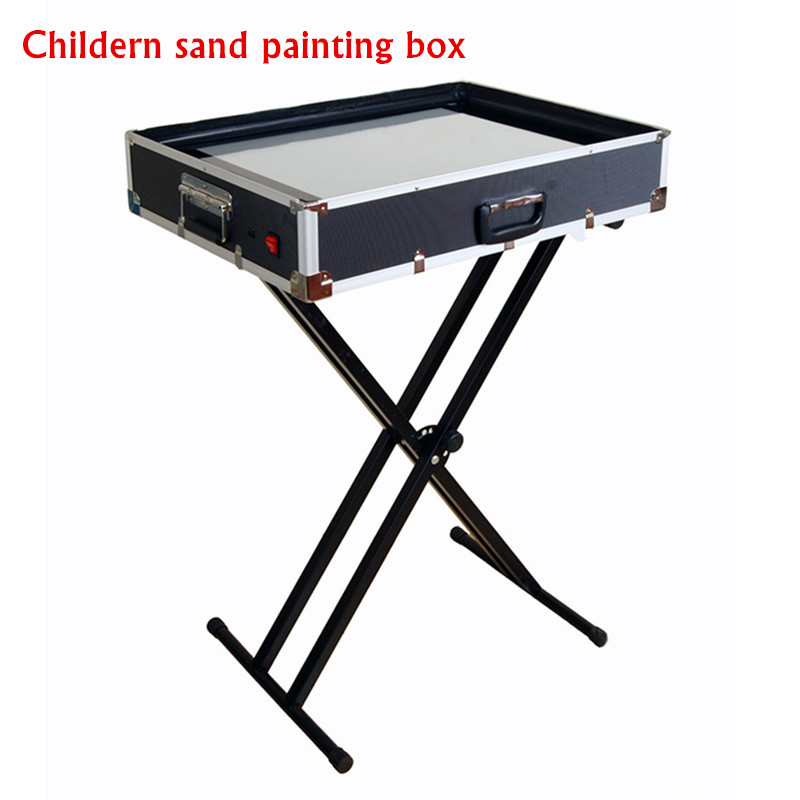 Children Practice Perform Sand Painting Table Sand Animation Box 2016 New Fancy Crazy Sand Art LED Warm White Light with Holder<br><br>Aliexpress