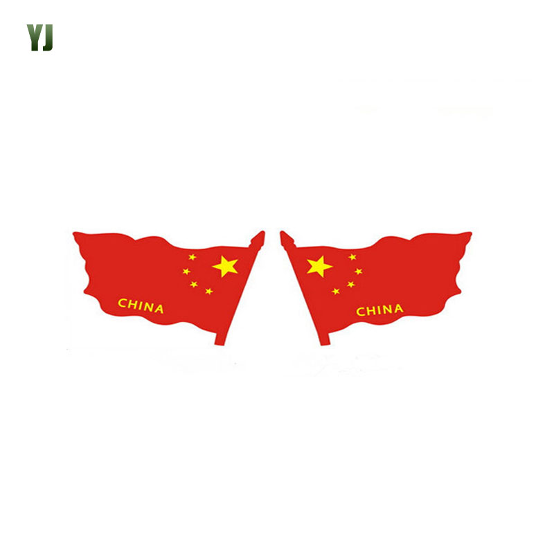 1Pair Car styling Flag Sticker Personality Car Rear View Mirror Stickers Word Letter CHINA Car Sticker CT2105(China (Mainland))