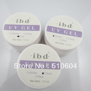 6pcs ibdUV builder gel nail for creating fantastic crystal french nail effect,clear,white,pink uv gel ,wholesale + Freeshipping