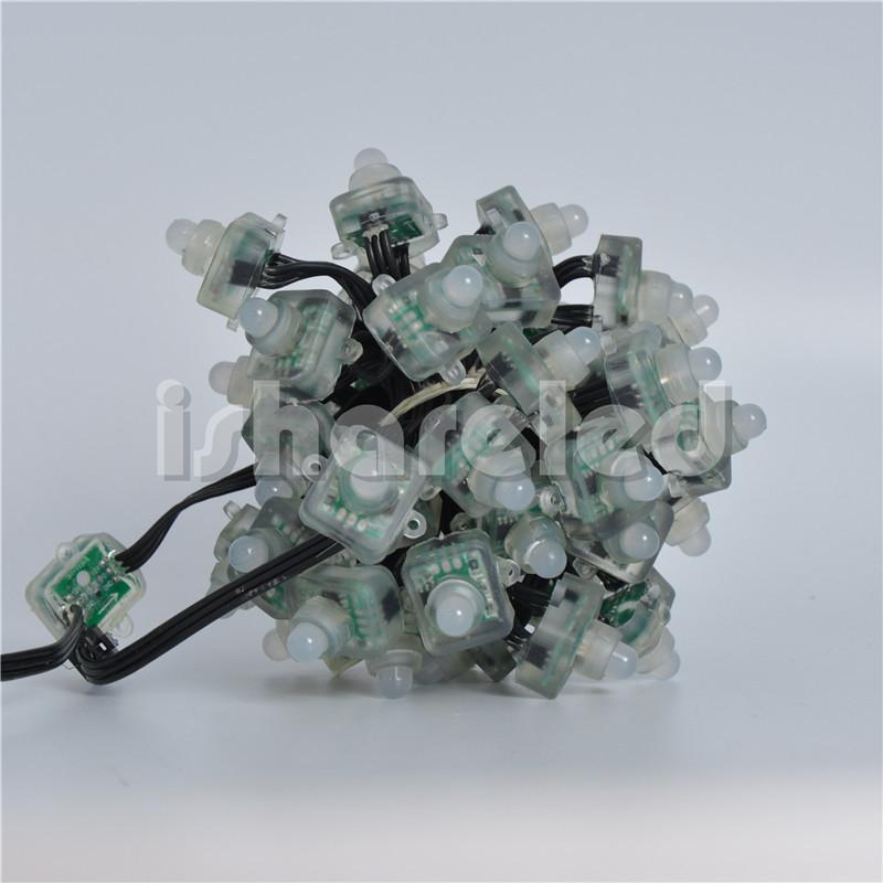 50Pcs Full Color T1515 Pixel Addressable WS2811 LED Module String Node 12V IP68 12mm(China (Mainland))