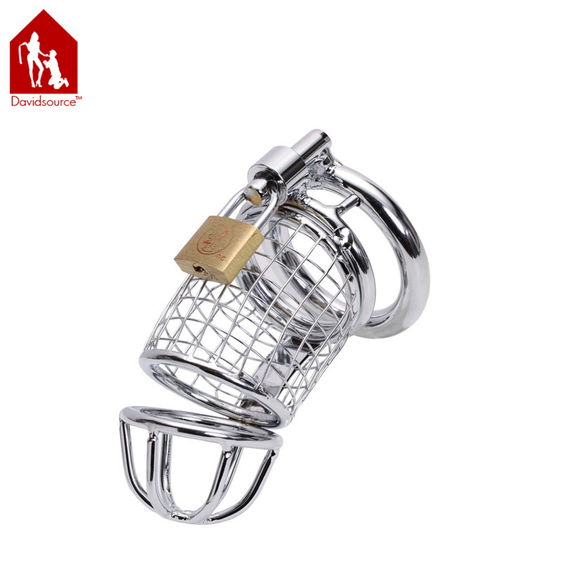 CB003 Stainless Steel Penis Cage 3.6Long 1.35Wide Pubic Enemy Cock Bondage Device Virginity Lock BDSM Fetish Men Sex Toy<br><br>Aliexpress