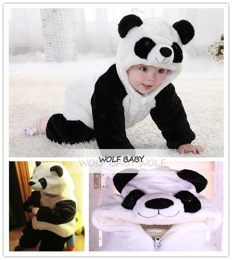 Retail 1-3years rompers panda model boys girls baby kids children Clothing Clothes Infant Garment winter spring autumn fall(China (Mainland))