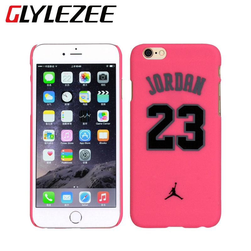 Chicago Bulls Cellphoen Cover Case No.23 Jordan Basketball PC Grind Arenaceous Protector Shell for iPhone 5 5S 6 6s Plus