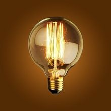 Incandescent Bulbs E27 Globe Edison Light Bulb Replacement 40W 110V 220V Exposed Filament 2015 New Hot Sale Free Shipping G80(China (Mainland))
