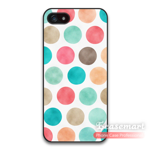 Retro Polka Dots Case For iPhone 6 6 Plus One Piece Back Ultra Thin Case For 5 5s 5c Wholesale Retail(China (Mainland))
