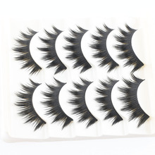5 Pairs Handmade Pro Black Natural Thick False Eyelashes Long Eye Lashes Extension Party Tools(China (Mainland))