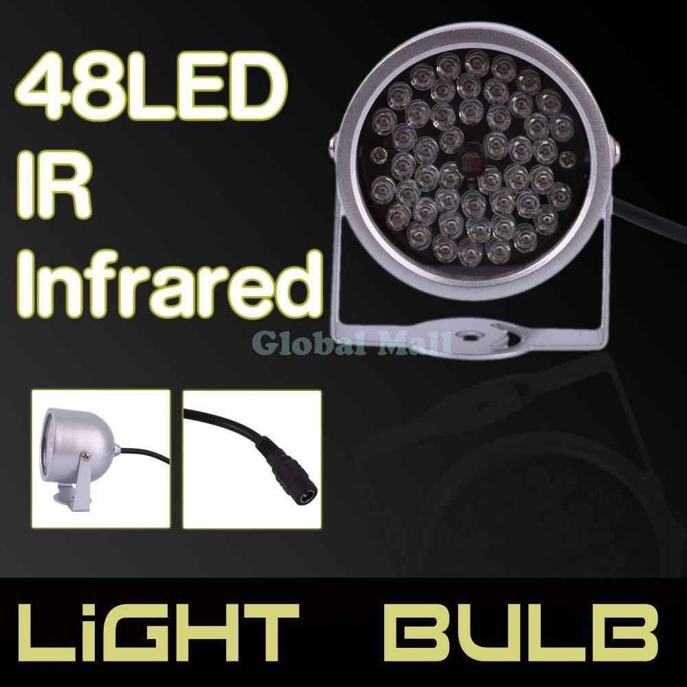 Ship From USA 48-LED Illuminator Light IR Infrared Night Vision E02845(China (Mainland))