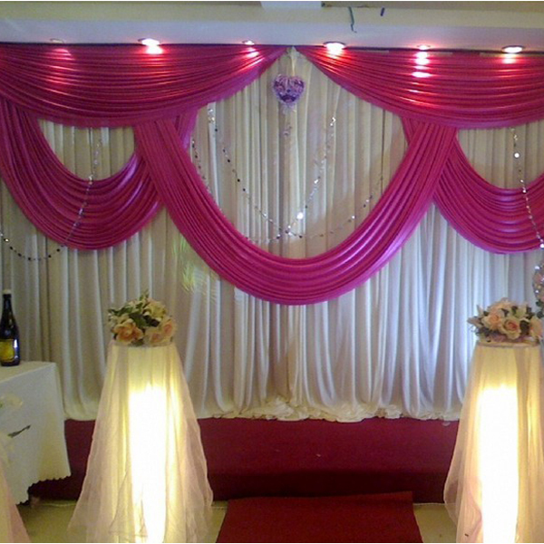 High quality pink wedding backdrop promotion shop for high - Cortinas para escenarios ...