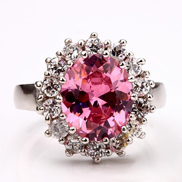 Pink Diamond Fashion Rings Pink CZ Diamonds Ring Kate