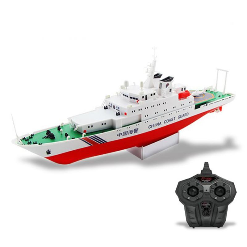 Free shipping China Coast Guard Ship 2.4G Electric Remote Control Ship Model Navy Battle Ship Dual Propellers DIY boat toy gift(China (Mainland))
