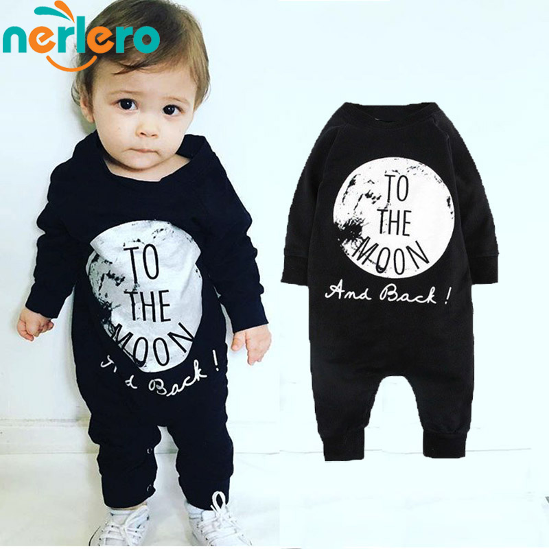 Baby Rompers 2016Fashion Clothing autumn Children Sets Black one piece Long Sleeve jumpsuit infant Clothes - Beautiful Angels children's clothing store