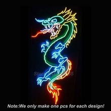 DRAGON Game Room Open Neon Light Sign Real Glass Tube Neon Bulbs Beer Bar Pub Recreation Room Garage Signs Store Display 30×18