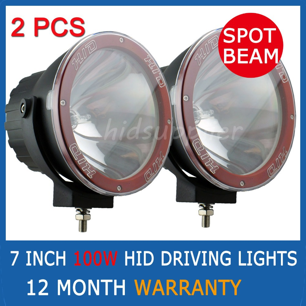 """PAIR 7 """" 100W HID XENON DRIVING LIGHTS SPOT BEAM OFFROAD 7 INCH 4WD UTE OFFROAD 4X4(China (Mainland))"""