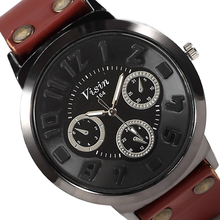 2015 Casual Jewelry Watch Clocks Mens Wrist Watch Wristwatches Analog Quartz Cow Leather Men Watches Wristwatch