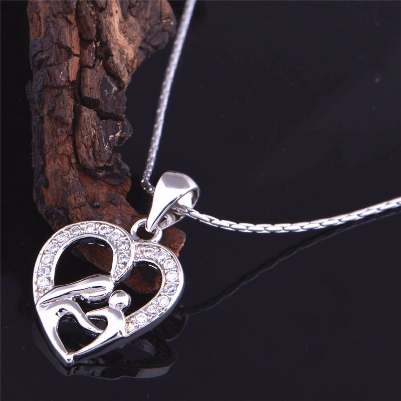 HTB1aFQxNpXXXXccXXXXq6xXFXXXj - Uloveido 10% Off Mothers Day Gifts for Mom Silver Color Necklace Fashion Necklaces & Pendants for Women Girls Free Shipping N595
