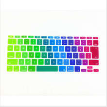 Japanese JP keyboard Rainbow English Letter Keyboard X15 Cover Skin Protector For Apple MacBook Air 11″ 11.6 For Mac book 11″ JP