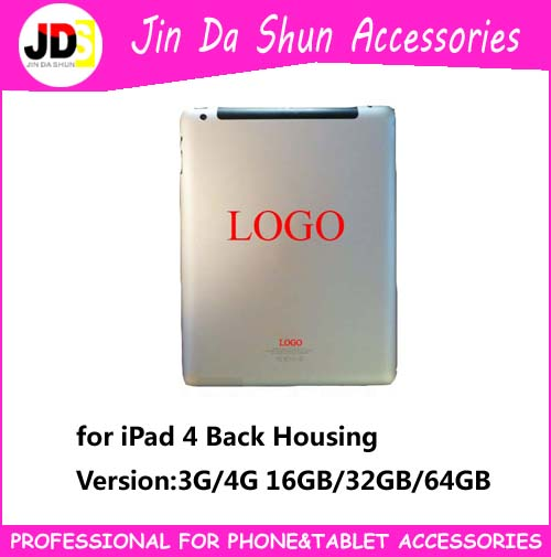 With LOGO For iPad 4 3 2 Version 4G 3G WIFI Back Battery Cover case housing door rear housing 16gb 32gb 64gb(China (Mainland))