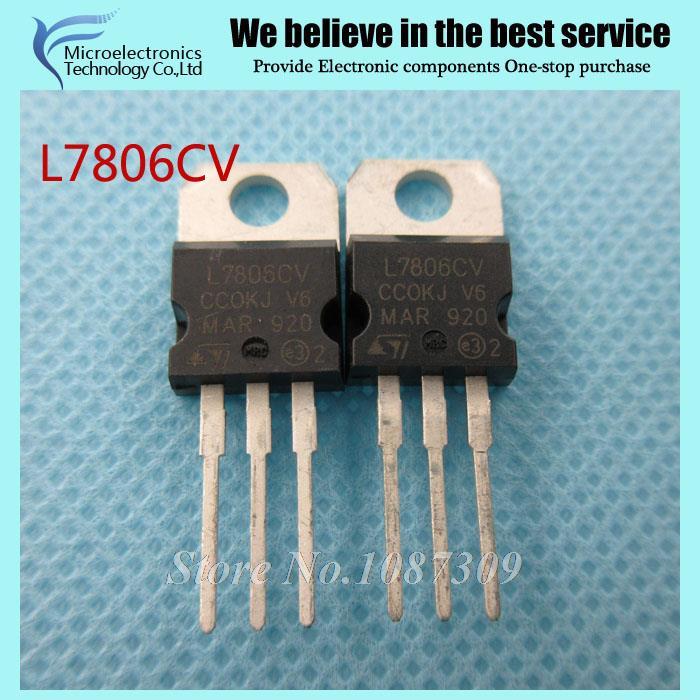 10pcs free shipping L7806CV L7806 7806 Voltage Regulator 6V 1.2-1.5A TO-220 new original