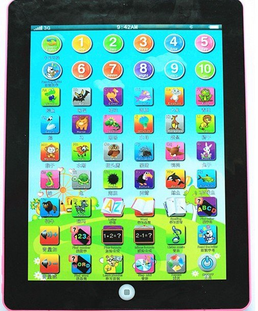 Educational toys early machine in both Chinese and English learning machine ipad point reading machine tablet PC