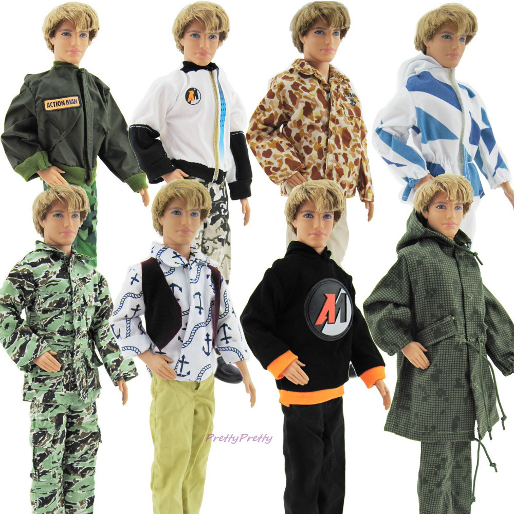 Three Units Style Handmade Informal Males Outfits Day by day Put on Garments For Barbie Buddy Ken Doll Randomly Decide FREE SHIPPING