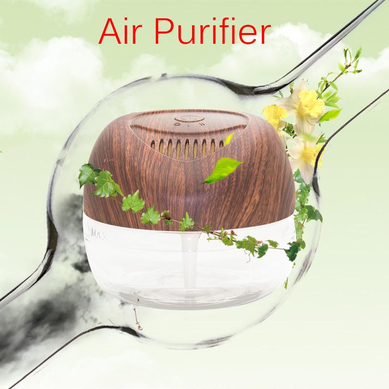 2150ML Wood Grain Portable Air Purifier Office Home Air Cleaner Freshener Humidification Water Wash Air Fresh Machine KS-03CLWG(China (Mainland))