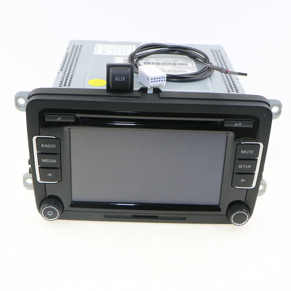 OEM VW Car Radio RCD510 Code Reverse-Image+AUX Surface Cap Housing+Cable CD MP3 For VW Jetta Golf MK5 MK6 Passat B6 3AD 035 190A(China (Mainland))