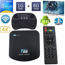 Buy Android TV Box T96 RK3229 Quad Core 1G 8G HDMI USB 2.0 3D 4K H.265 WiFi Support TF card Android 6.0 Smart Set-Top + Keyboard for $32.20 in AliExpress store