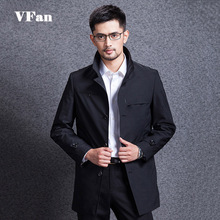 2015 New Brand Men Trench Coat Fashion Casual Thin Long Outerwear Slim Fit Cotton Windproof Single Breasted Coat Z1454(China (Mainland))