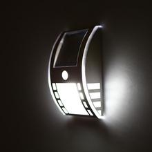 LED Solar Powered Home illumination LED Wall Lamp Wireless PIR Motion Sensor Light for Door Entrance Pathways Warm White/White(China (Mainland))