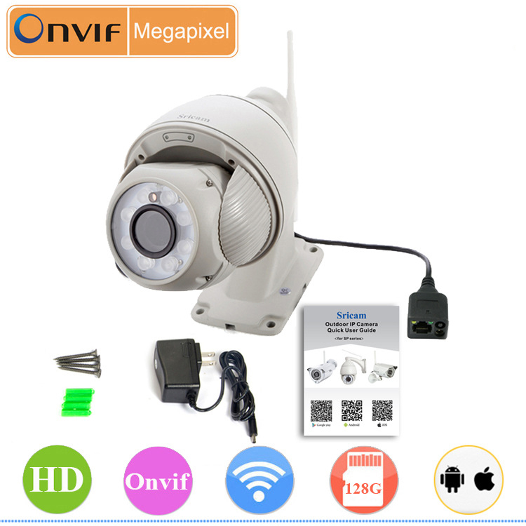 4 pieces/lot Newest Waterproof IP Camera Sricam SP008 720P 1.0 Megapixels Wifi Network Onvif Outdoor Security Home Camera(China (Mainland))