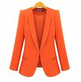 New Spring 2016 Women Blazers plus size fashion female slim blazer Ol Candy Color suit jacket