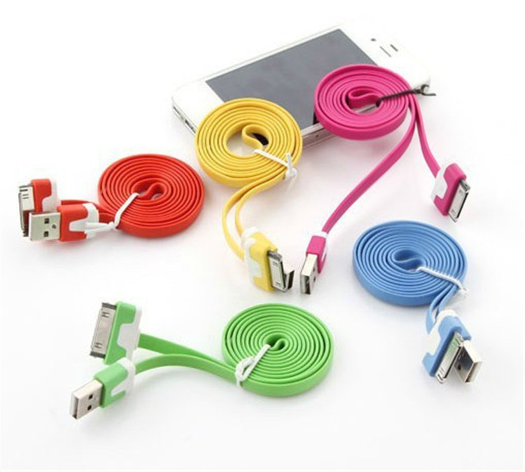 2016 new colorful usb to 30 pin charger cable adapter dock cables cabo kabel for apple iphone 4 4s ipad 2 3 Sell like hot cakes(China (Mainland))