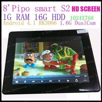 """8"""" PiPo S2 RK3066 Dual Core dual camera bluetooth  Tablet PC Android 4.1 Jelly Bean OS Cortex A9 1.6GHZ"""