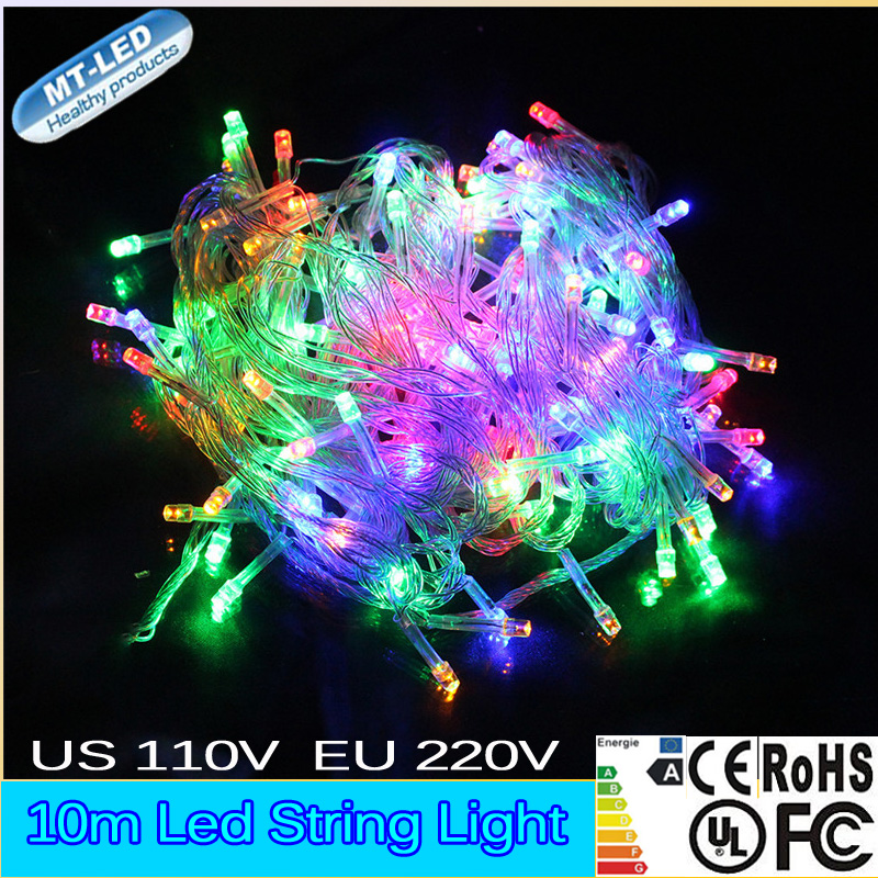 1pcs 10M Led string light RGB color 100led 110V 220V Christmas light Decoration Light for Party ...