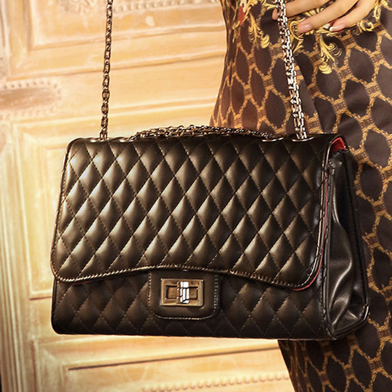 2015 new fashion handbags small fragrant wind Quilted chain bag shoulder tide singles sheepskin bags - MIFAN's store