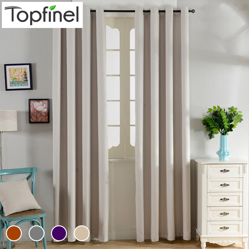 Top Finel Solid Thermal Insulated Blackout Curtains for Living Room Bedroom Window Treatments Room Dark Curtains Panel Drapes(China (Mainland))