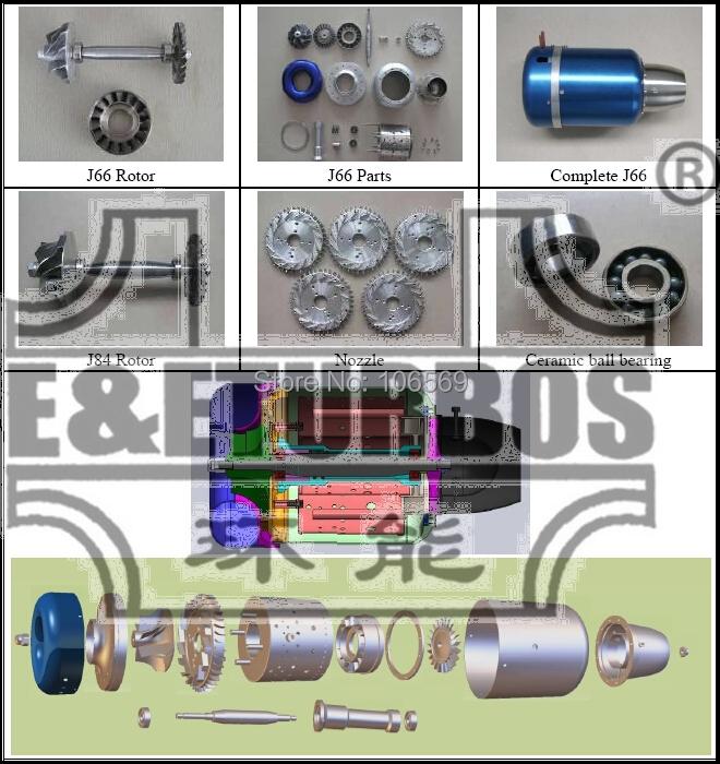Jet Engine Parts J66 KJ66 Turbine Nozzle Compressor Diffuser Combustor
