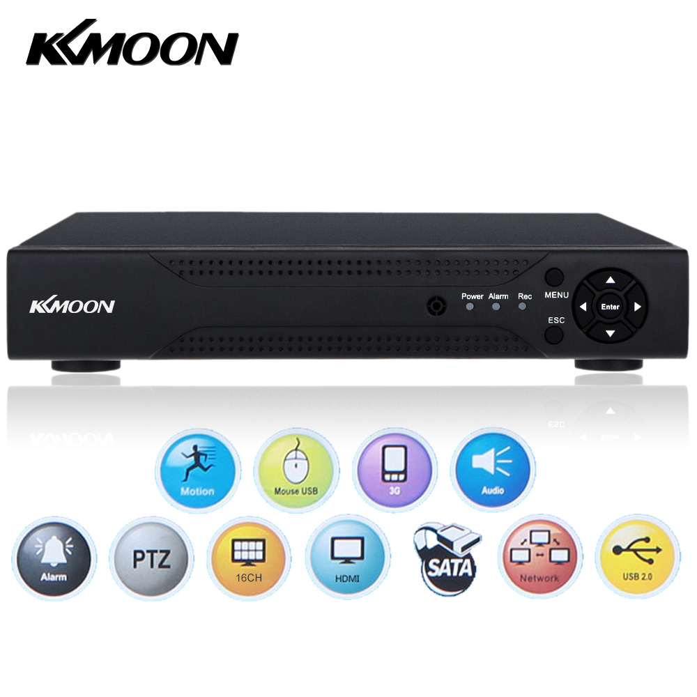 KKmoon Home DVR Recorder AHD 1080N/720P 16CH DVR 16 Channel Network Onvif Digital Video Recorder Hard Disk P2P H.264 HDMI Remote(China (Mainland))