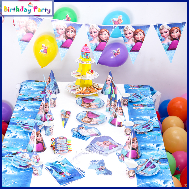 Cartoon Characters Birthdays : Pcs famous cartoon characters snow queen theme birthday